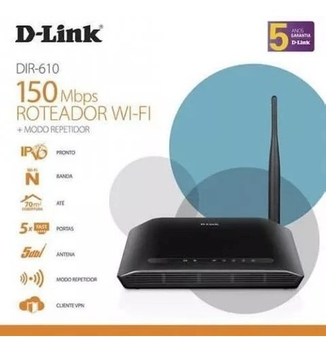 kit 2 roteadores d-link wireless 4 portas n 150mbps dir-610