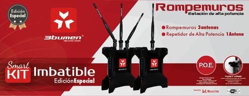 kit 2 router rompemuros 3bumen alta potencia empresas hogar