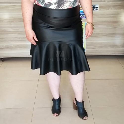 kit 2 saia evangelica midi babado sino flare moda plus size - frete gràtis