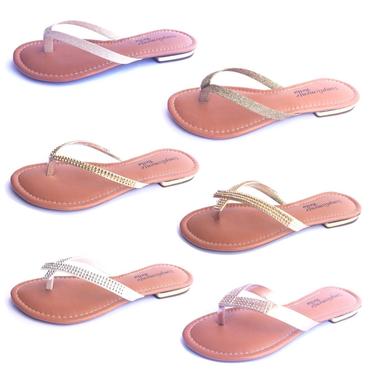 c88e431a67 kit 2 sandália feminina rasteira rasteirinha bella promoção. Carregando  zoom.