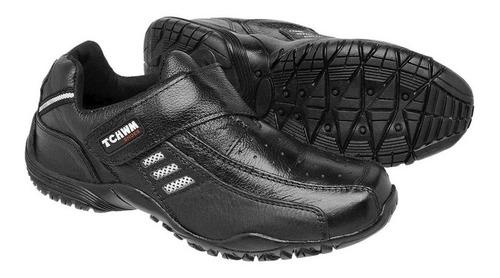 kit 2  sapatênis sapato masculino cadarço e  facil calçar 100% couro bovino  leve macio em promoção tchwm shoes