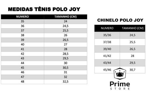 kit 2 sapatênis tênis polo joy masculino c/ 2 chinelos