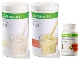 kit 2 shakes herbalife + chá 50g - pronta entrega