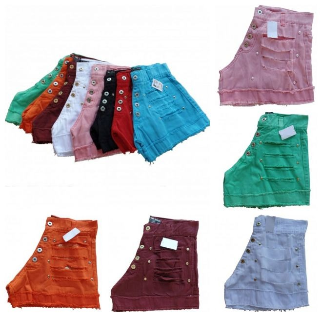 kit 2 short jeans feminino cintura alta barato para revenda · short jeans  feminino. Carregando zoom. efd92836c2d