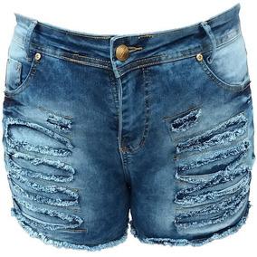 c9ad5069e Kit 2 Short Jeans Femininos Cintura Alta Hot Pants Atacado