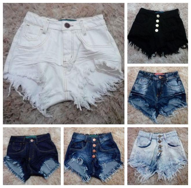 Kit 2 Shorts Jeans Feminino Destroyed Hot Pant Rasgado Anita - R$ 11999 em Mercado Livre