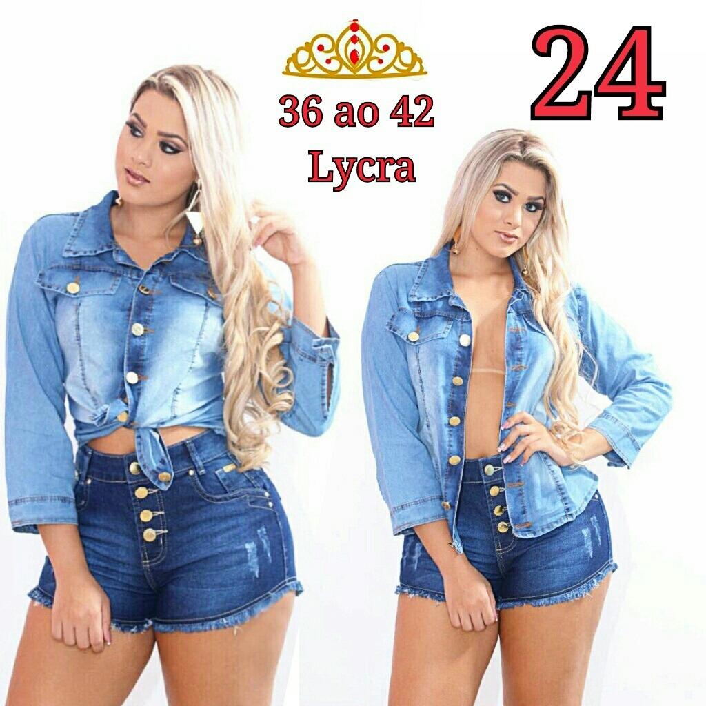746a6b5750 Kit 2 Shorts Jeans Plus Size