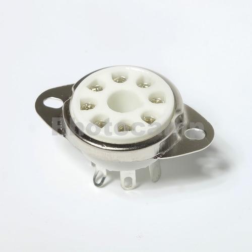 kit 2 soquetes para valvulas 8 pinos - octal