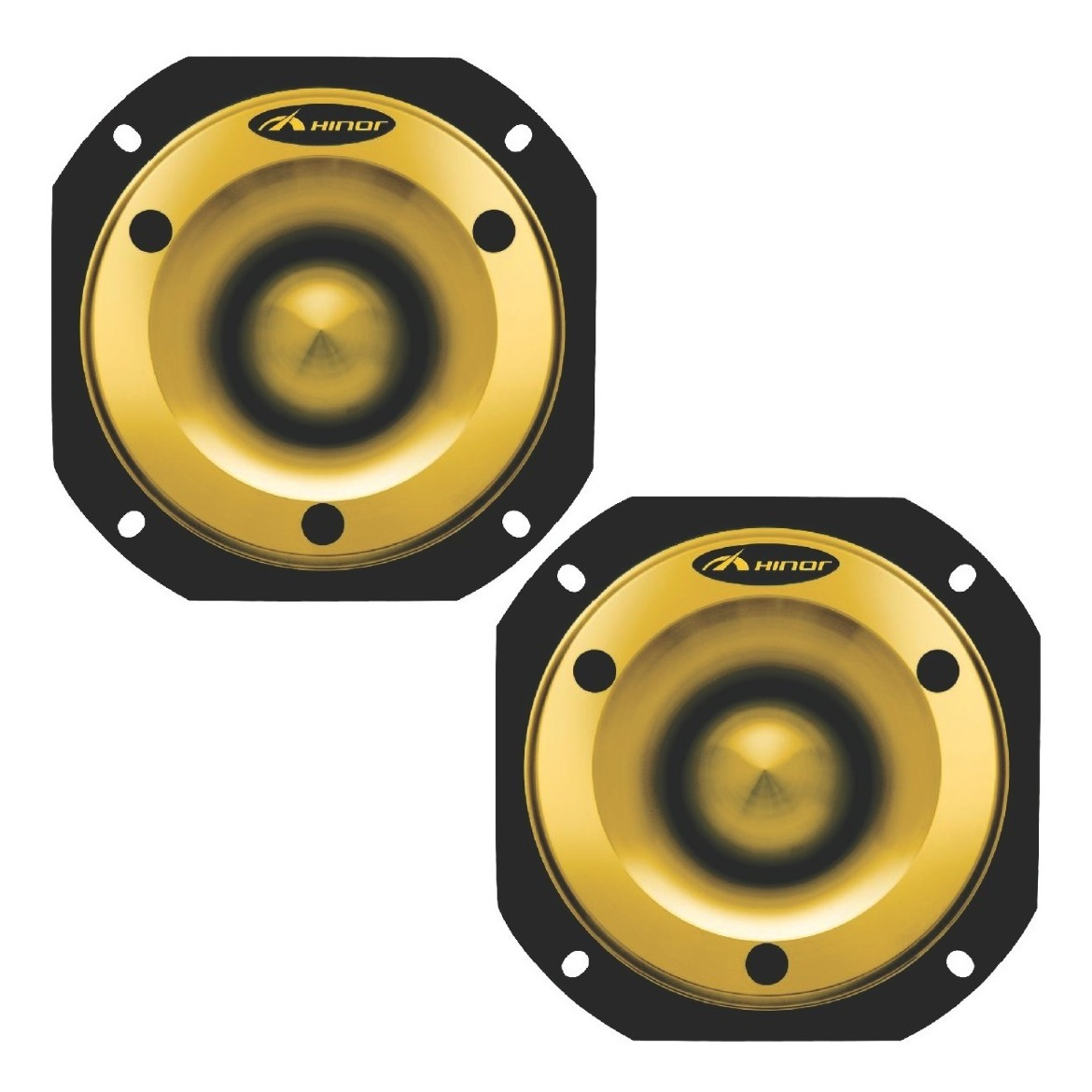 Kit 2 Super Tweeter Hinor Hst600 Trinyum Gold 300wrms
