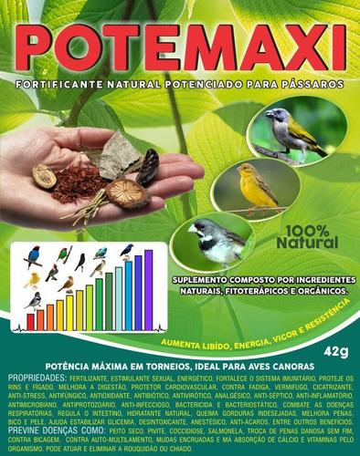 kit 2 suplemento vitamina fortificante natural pássaros aves