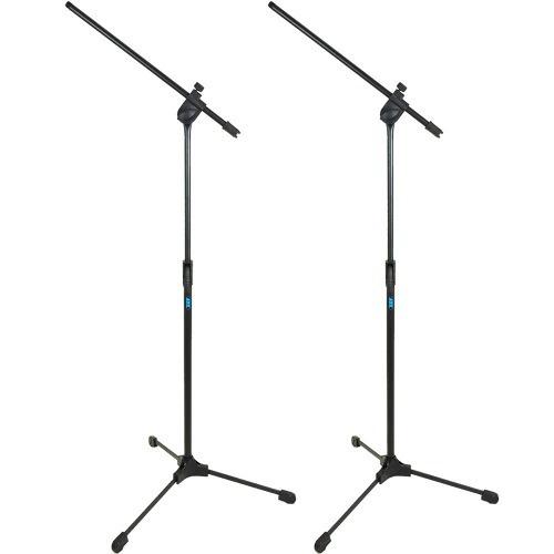kit 2 suporte pedestal para microfone tipo girafa tps ask