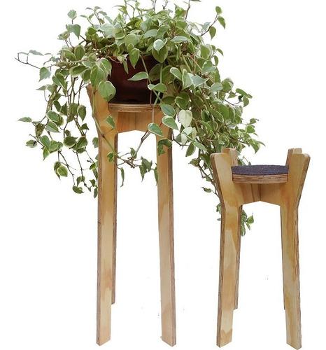 kit 2 suportes para vasos de plantas