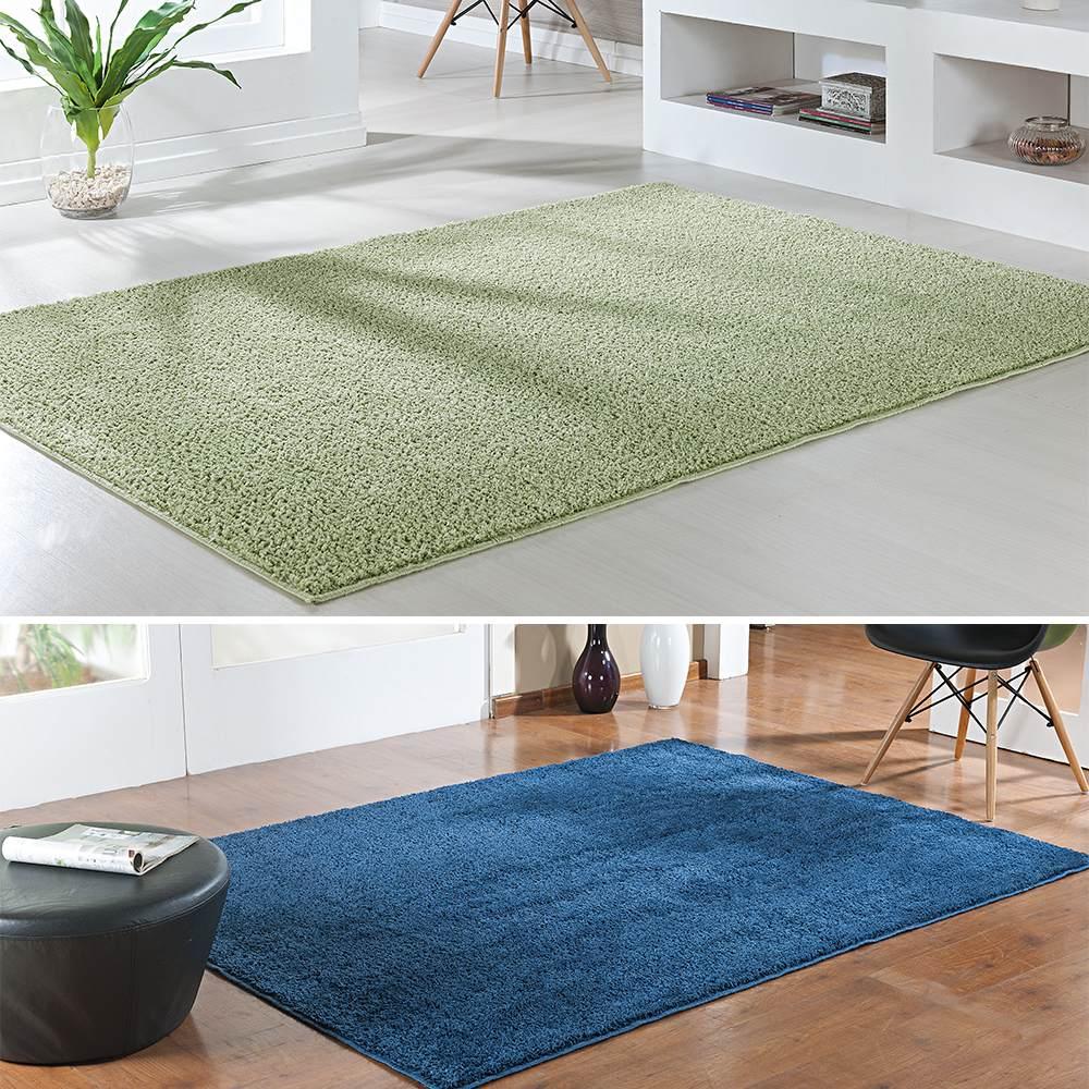 Kit 2 tapete sala quarto classic verde e azul jeans for Tapetes para sala de estar 150x200