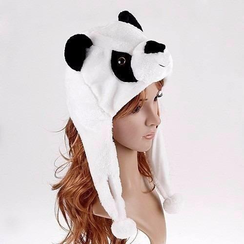87b916d38ae80 Kit 2 Touca Gorro Bichinhos Pelúcia Inverno Urso Panda - R  60
