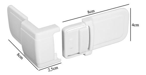 kit 2 travas de canto ordene joy portas gavetas armários proteção bebê segurança protetor multiuso or90200 c/ notafiscal