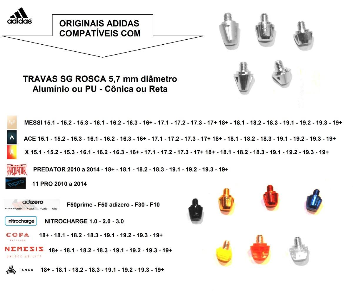 3cadf251da0ed kit 2 travas poliuretano fg adidas predator ace x 1magnus. Carregando zoom.