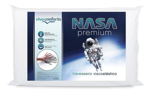 kit 2 travesseiros nasa viva conforto antialérgico macio