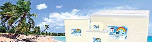kit 2 unds de caixa de isopor de 80 litros isoterm com dreno