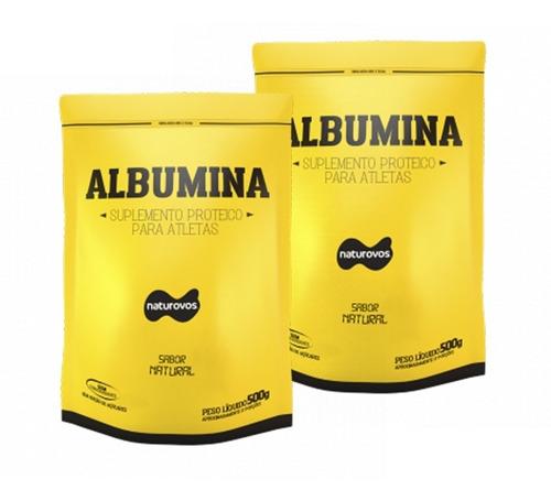 kit 2 unid. albumina 500gr natural naturovos