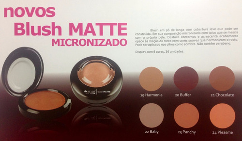 kit 2 unid blush matte micronizado nova embalagem max love