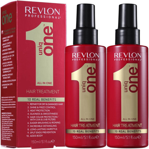 kit 2 uniq one revlon tratament 10 em 1 - 150ml original