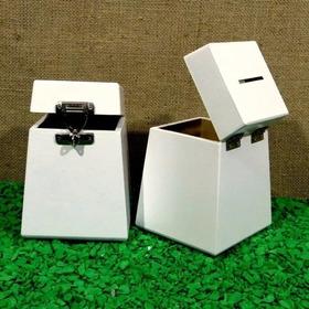 Kit 2 Urnas Mini Branco Lindas