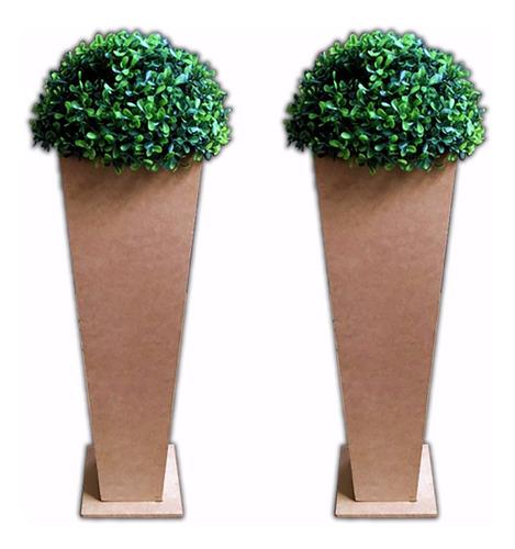 kit 2 vasos de chão cachepôs, mdf decoração provençal festas