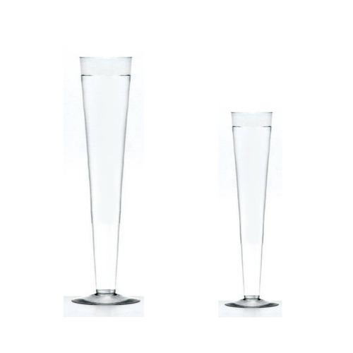 kit 2 vasos tulipa tulipão de vidro 1 de 50cm e 1 de 35cm