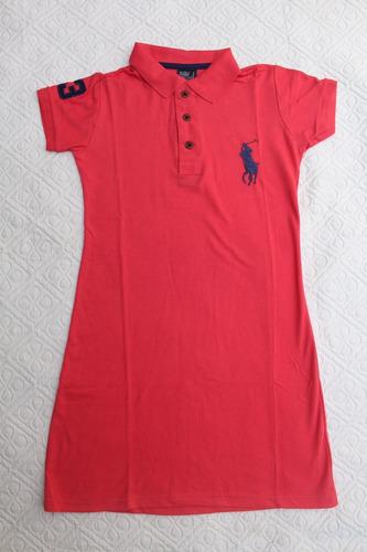 kit 2 vestido gola polo feminino super oferta