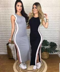 6d8f1d6b06 Vestido Longo Aberto Lateral - Vestidos Longos Femininas no Mercado Livre  Brasil