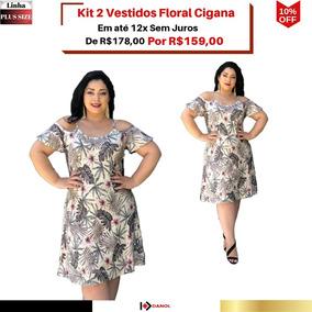 c5edbdd4df35 Moda Plus Size Feminina - Vestidos Bege com o Melhores Preços no Mercado  Livre Brasil