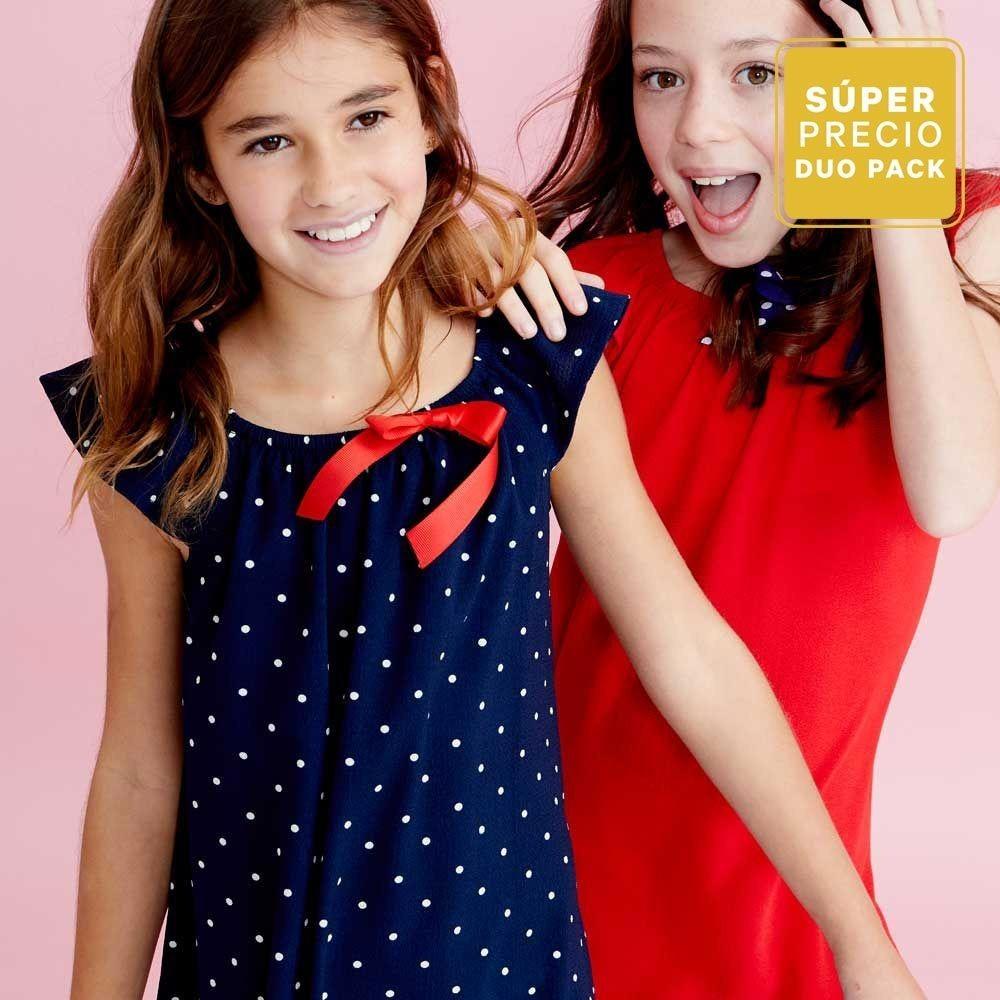 5757f8ddb07c Kit 2 Vestidos Verde Marino - Rojo 820448 Kids 19c -   464.00 en ...