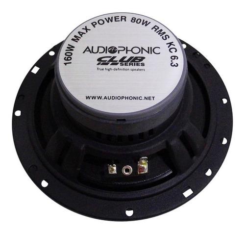 kit 2 vias audiophonic kc6.3 6,5 160w hi-end