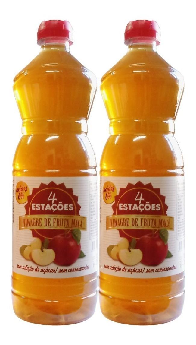Vinagre De Maçã 6% 740ml Zero Açúcar 100% Natural Kit 2 Unidades