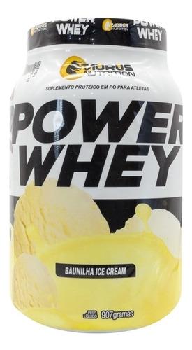 kit 2 whey protein power suplemento 907g -baunilha ice cream