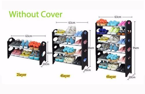 kit 2 zapatera organizador 30 pares 10 niveles rack
