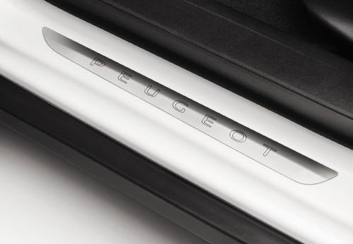 kit 2 zocalos de puerta aluminio peugeot 208
