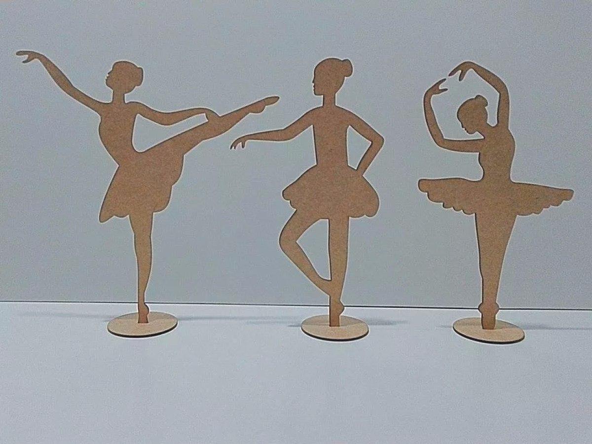 a449cda548 kit 20 bailarina 10cm centro de mesa mdf cru lembrancinha. Carregando zoom.
