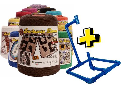 kit 20 barbantes lima colorido 700g (14kg) + suporte cone*