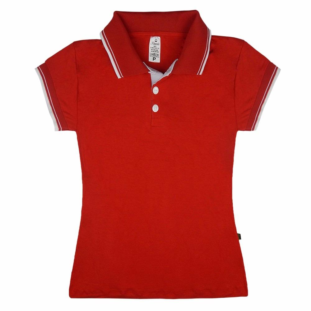 3823f25b89ef4 Kit 20 Blusas Uniforme Camisa Polo Feminina Farda Atacado - R  370 ...