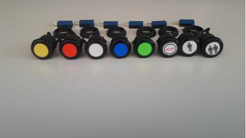 kit 20 botoes + 02 comandos c/micros - promoção