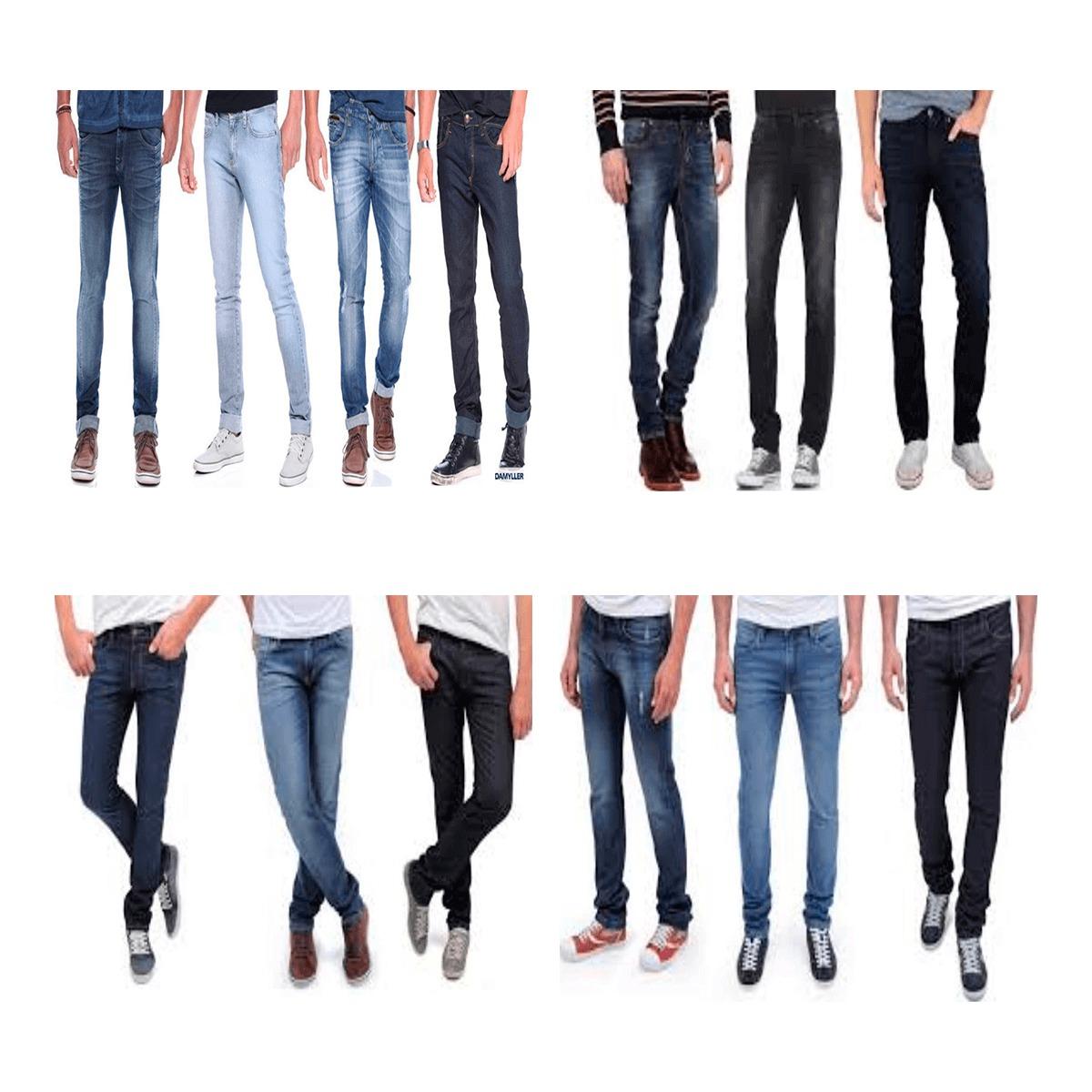 kit 20 calça jeans masculina de marca slim skinny atacado. Carregando zoom. 4750795fd1b