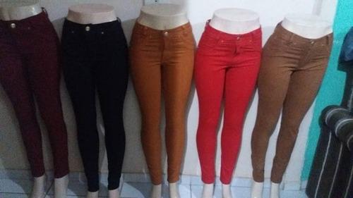 kit 20 calças jeans colorida  roupas femininas anita 2018 at