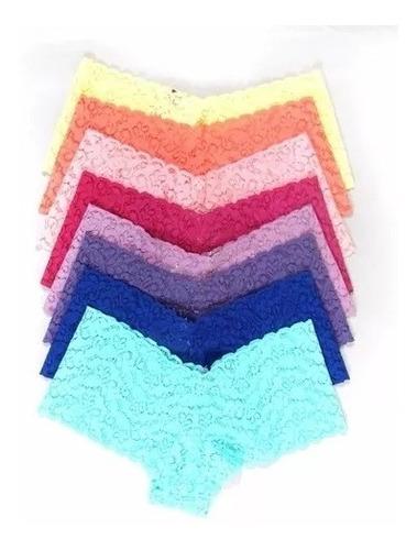 kit 20  calcinha malha de renda box coleço bonita f grátis