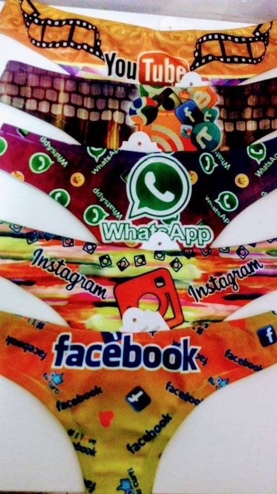 7a58f8f57f581 Kit 20 Calcinhas   Tangas Marca De Rede Social Atacado