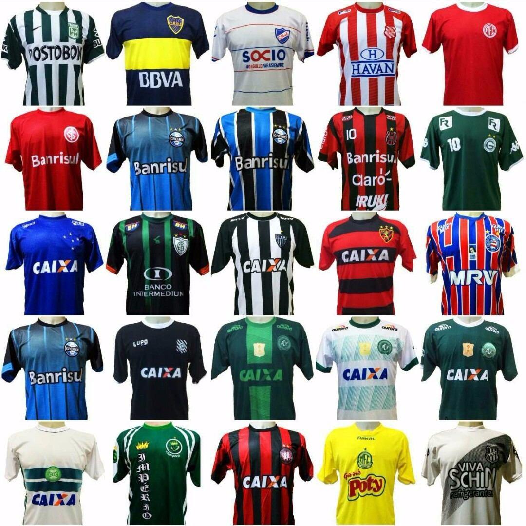 kit 20 camisas de times variados barato bordado. Carregando zoom. 492ef7b62b9f7