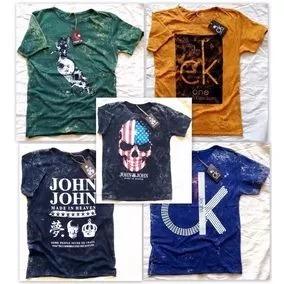 d054a464a Kit 20 Camisas Lavada Cl20 Lindas Baratas - R  420