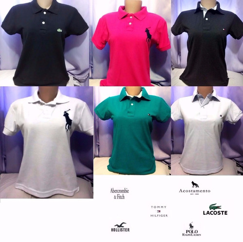 251c443a81 Kit 20 Camisas Polo Feminina Varias Marcas Pronta Entrega - R  376 ...