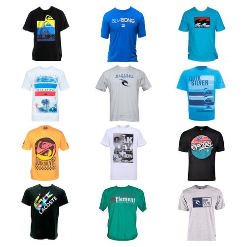 kit 20 camiseta camisa masculina marca estampada top atacado
