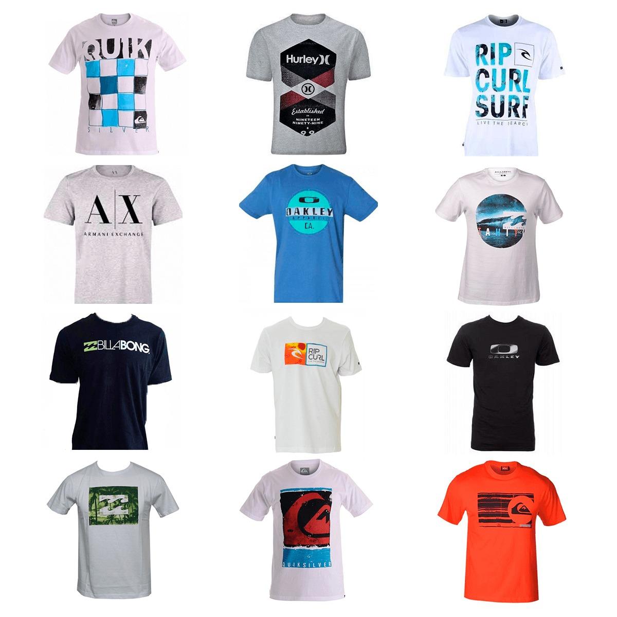 kit 20 camiseta camisa masculina marca estampada top atacado. Carregando  zoom. 60a22044681